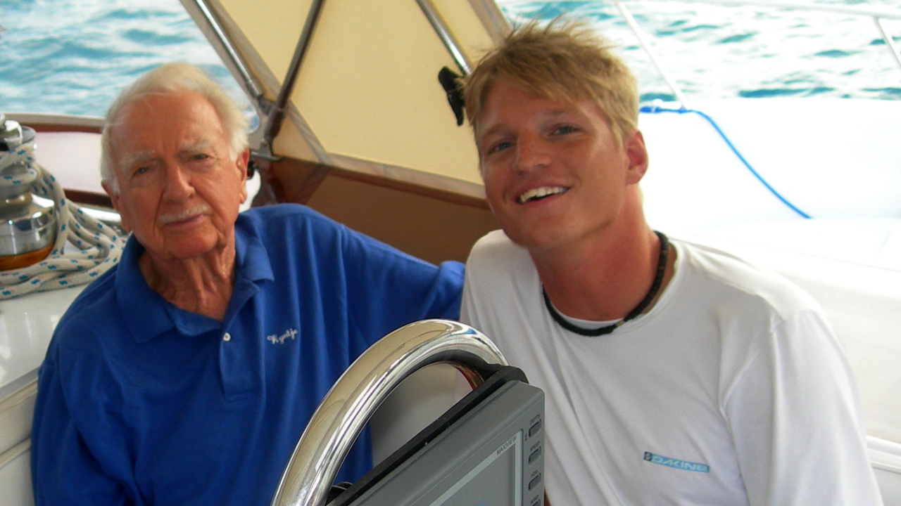 Will deHoo and Walter Cronkite sailing